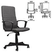 """Кресло для руководителя Brabix """"Focus EX-518"""", ткань, серое фото"""
