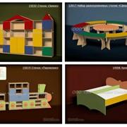 Детская игровая мебель, столики, стулья, кровати, стенки, стеллажи для игрушек фото