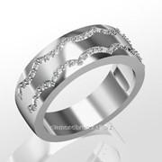 Кольца с бриллиантами R27892-1 фото
