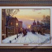 Картина Морозный вечер в Москве фото