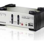 KVM-переключатель Aten CS1782 2-х портовый с портами USB и DVI, 2-х порт. USB2.0 хаб