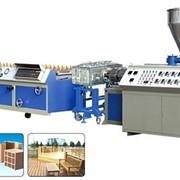 Оборудование для производства профилей из древесно-полимерного композита ДПК (WPC) фото