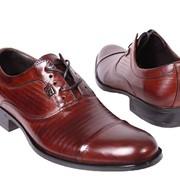 Туфли мужские коричневые на шнурках фото