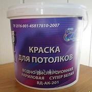 Краска интерьерная супер белая для потолков ВД-АК-201 фото