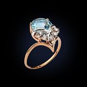Кольцо с полудрагоценным камнем фото