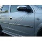 Молдинги дверей Opel Corsa C 00-06 хетчбек 5дверей, 4шт нерж фото