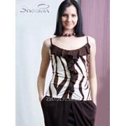 Блуза 1530 Шоколад цвет фото