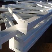 Металлоконструкция для монтажа светопрозрачных конструкций фото