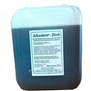Универсальное жидкое концентрированное щелочное моющее средство для посудомоечных машин Alkadem-Dish канистра 12 кг фото