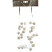"""Букет-подвеска """"Снежные шарики с глиттером"""", 29 см, 2 шт (Kaemingk) фото"""
