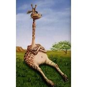 Картина маслом Жирафчик фото