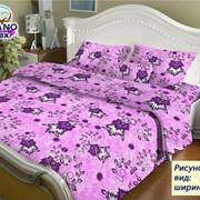 Ткань х/б подкладочная напечатанная ширина 1.60см рис 306 розовая фото