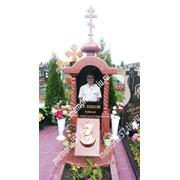 Эксклюзивный памятник с колоннами фото