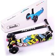 21St Scooter maxi Самокат со светящимися колесами и складной ручкой Графити фото