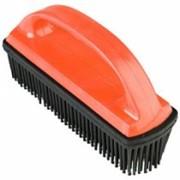 Щётка для удаления волос и грязи, резиновая фото