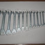 Наборы ключей с открытым зевом (КГ)в термовакуумной упаковке оцинкованные 14 шт. фото