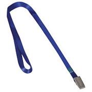 Лента для бейджей 45см, клип, синяя фото