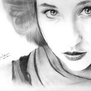 Портрет карандаш фото