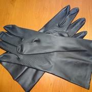 Перчатки хозяйственные резиновые № M, L, XL фото