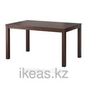 Раздвижной стол коричневый БЬЮРСТА фото