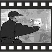 Расклейка афиш, объявленй, листовок, наклеек Курск фото
