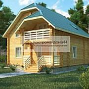 Проект Дом из бруса №7 9х10.7 фото