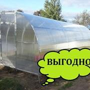 Теплица Сибирская 40Ц-1, 4 метра, из замкнутого профиля 40*20, шаг 1 м + форточка Автоинтеллект фото
