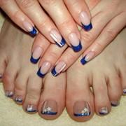 Наращивание ногтей на ногах фото