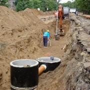 Строительство канализационных сетей фото