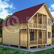 Проект Д-45. Дом из бруса 8х8 м. фото