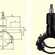 Вентиль для врезки с удлиненным патрубком в наборе с муфтой DAV(Kit) d110/40 фото