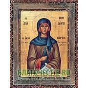Благовещенская икона Феодора, святая, копия старой иконы, печать на дереве Высота иконы 11 см фото