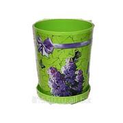 Горшок для цветов из пластика Сирень фото