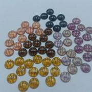 Стразы клеевые пластик SS 30 цветные фото
