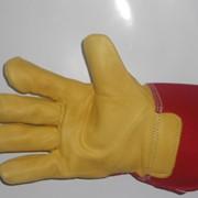 Перчатки кожаные комбинированные 0120 фото