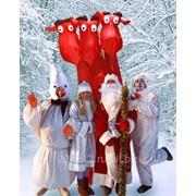 Новогоднее поздравление Деда Мороза и Снегурочки фото