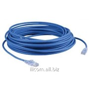 Патч-корд Sanxin ,UTP cat.5e patch cord 26AWG CCA conductor 10M Blue color фото