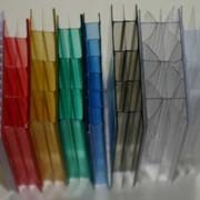 Сотовый поликарбонат 4мм цветной фото