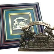 Бронзовый барельеф в багете 350 лет Пензе - усадьба М.Ю.Лермонтова фото