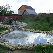 Водоёмы ландшафтные с водопадом и фонтаном фото