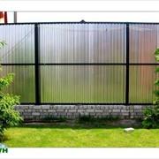 Забор с француза, бутовый, еврозабор, из профнастила фото