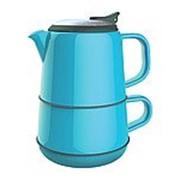 Набор artiart кружка чайник + блюдце- синий фото