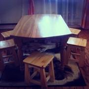 Комплект стол дубовый+5 стульев из сосны фото
