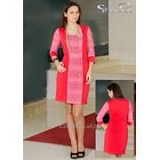 Платье 1425 Персик цвет фото