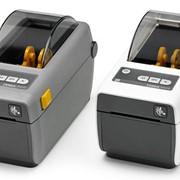 Принтер штрих-кода Zebra ZD410 (203 dpi) (USB, USB Host, BTLE, серый) фото