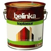 Декоративная краска-лазур Belinka Toplasur 2,5 л. №72 Санториново-синий Артикул 51378 фото