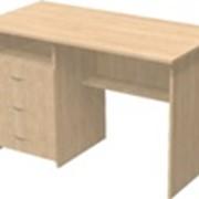 Стол однотумбовый 3 ящика + ниша фото