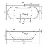 Ванна акрил прямоугольная Ecliptica 180x80 фото