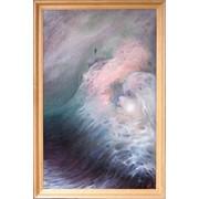 Картина масло, холст на картоне, размер 120x80см., 1989г. фото