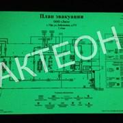 Планы эвакуации Фотолюминисцентные 600*400мм ГОСТ фото
